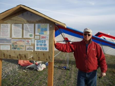 Our Local Hang Glider Instructor, Alan Paylor from King Mountain Gliders.