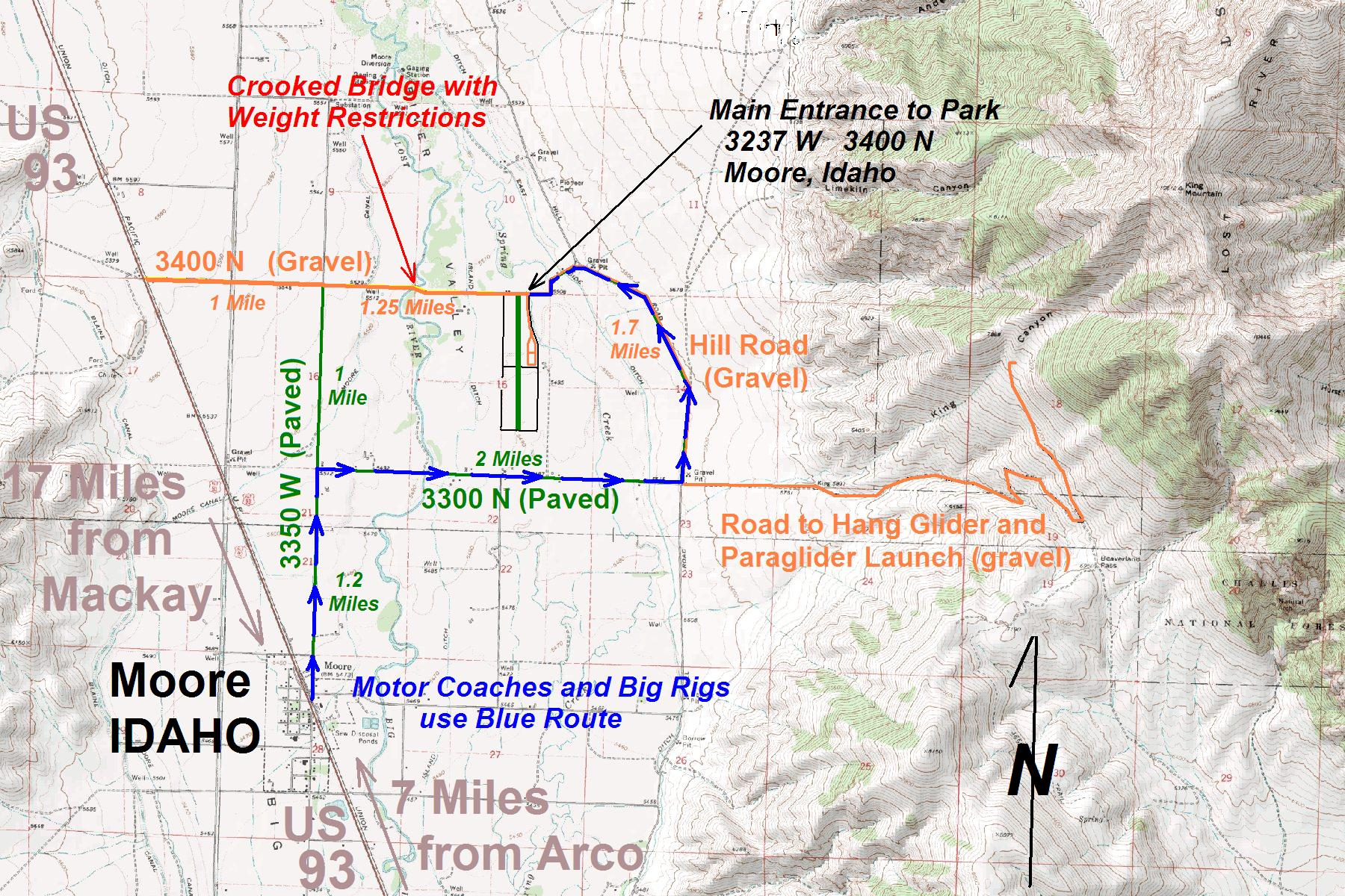 moore to king road map
