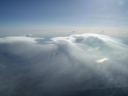 Above Sunset Ridge at FL240