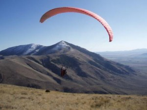 Paraglider in late October