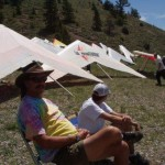 Spectators at the Hang Gliding Championships