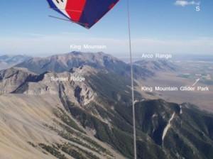 Above Sunset Ridge on a Falcon Hang Glider