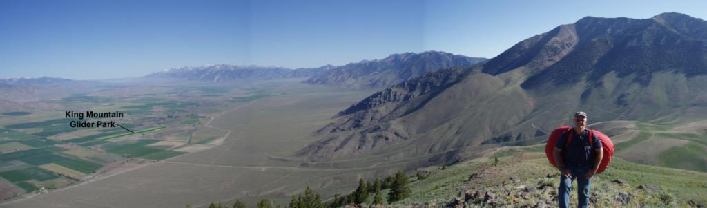 Arco Range looking north at King Mountain